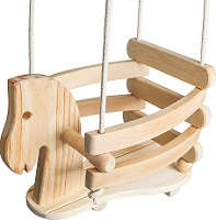 Ecotribe Wooden Horse Toddler Swing Set