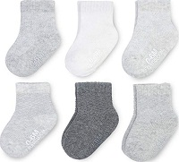Fruit of the Loom Baby 6-Pack All Weather Crew-Length Socks