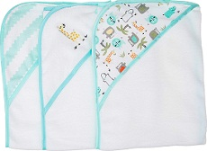 Buttons and Stitches 3 Piece Infant Hooded Towel
