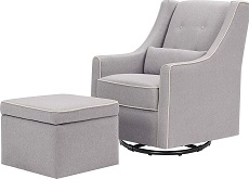DaVinci Owen Upholstered Swivel Glider