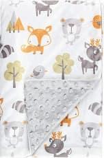 Fox Baby Blanket Boys Soft Minky Baby Blanket