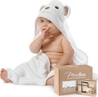 Premium Ultra Soft Organic Bamboo Baby Hooded Towel