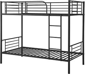 Julyfox Modern Metal Bunk Bed