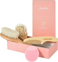 Ullabelle 4 Piece Wooden Baby Hair Brush