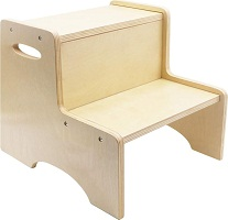 WOOD CITY Wooden Toddler Step Stool