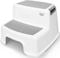 Wide+ 2 Step Stool for Kids By iLove