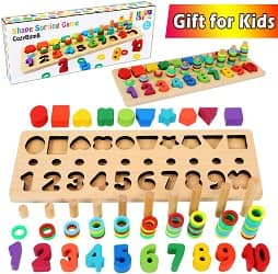CozyBomB Wooden Number Puzzle Sorting Montessori Toys