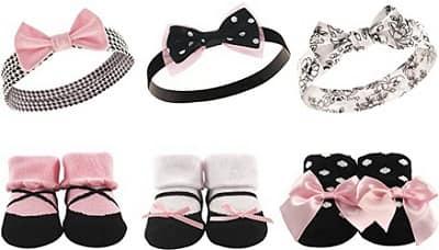 Hudson Baby Girl Socks and Headband Gift set