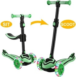 JOYGEM 2-in-1 Kids Scooter with Removable Seat