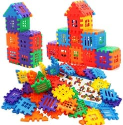 MICHLEY Kids Builders Blocks Play Set