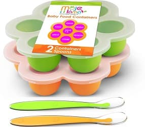 MojeMama Homemade Baby Food Storage Container Freezer Trays